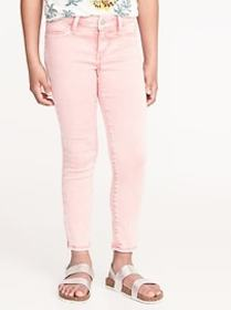 Pop-Color Acid-Wash Ballerina Crop Jeggings for Gi