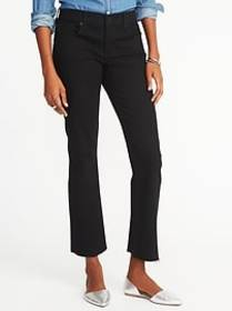 Mid-Rise Cropped Flare-Ankle Jeans for Women