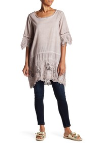 Simply Couture Lace Scallop Tunic