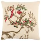 Throw Pillow Rizzy Home Ivory Red