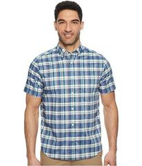 Nautica Short Sleeve Wear To Work Large Plaid Shir