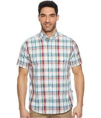 Nautica Short Sleeve Large Scale Plaid Woven Shirt