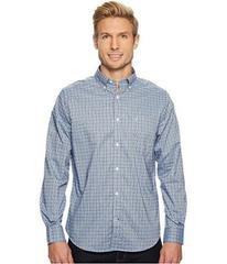 Nautica Long Sleeve Wear to Work Med Plaid Shirt