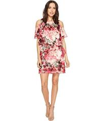 Tahari by ASL Cascade Ruffle Printed Shift Dress