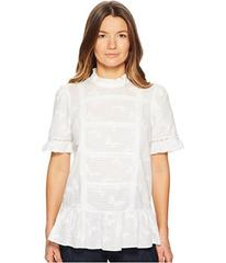 Kate Spade New York Butterfly Clipped Flounce Top