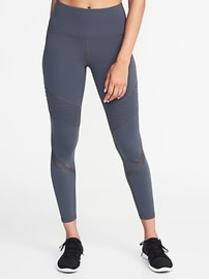 High-Rise 7/8-Length Moto Compression Leggings for