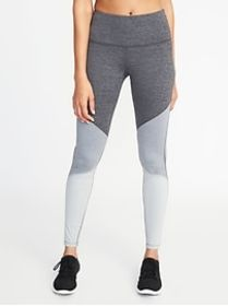 High-Rise Color-Block Compression Leggings for Wom
