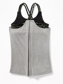 Relaxed Go-Dry Cool Strappy 2-in-1 Tank for Girls