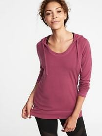 Relaxed Lightweight Performance Hoodie for Women
