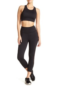 C & C California Mesh Detailed Capri Leggings