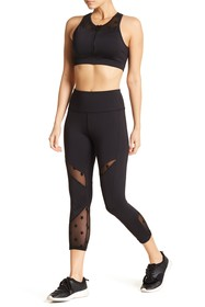 C & C California Star Mesh Capri Pants