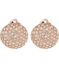 Nina Medium Pave Button Clip Earrings; Elements By