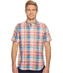 Nautica Short Sleeve Large Scale Plaid Shirt