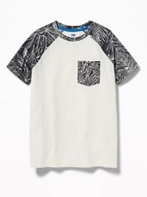 Raglan-Sleeve Pocket Tee for Boys