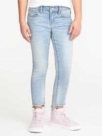 Step-Hem Skinny Ankle Jeans for Girls