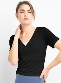 GapFit Faux-Wrap Top