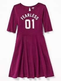 Jersey Fit & Flare Dress for Girls