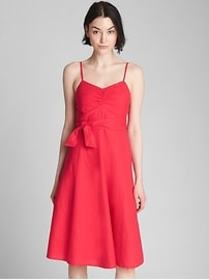 Fit and Flare Cami Dress in Linen-Cotton