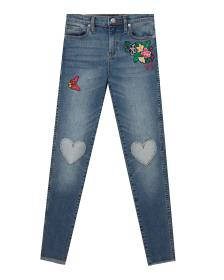 Juicy Couture Denim Heart Patch Skinny Jean for Gi