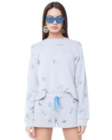 Juicy Couture Wildflower Embellished French Terry