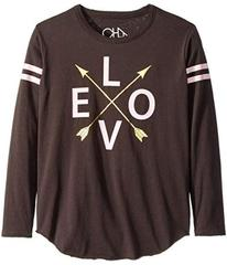 Chaser Kids Long Sleeve Super Soft Love Arrows Tee
