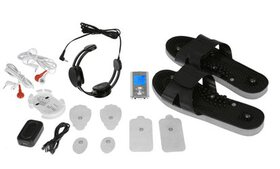 PCH Silver Pulse Massager with Massage Sandals and