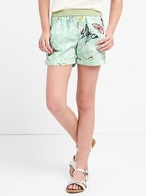 Print Pull-On Shorts