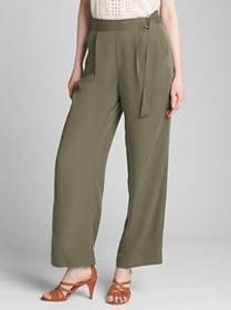 High Rise Belted Wide-Leg Pants in TENCEL&#153