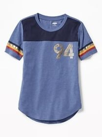 Graphic Football-Style Tee for Girls