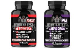 Angry Supplements Monster Test MAXX and PM Testost