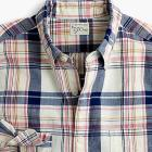 Slim Indian madras shirt in indigo plaid