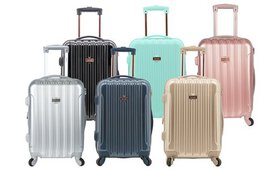 """Kensie 20"""" Hard-Sided Expandable Metallic Carry-On"""