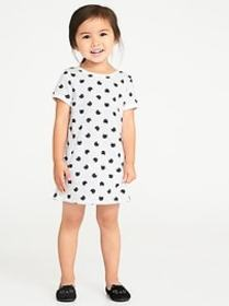 Printed French-Terry Shift Dress for Toddler Girls