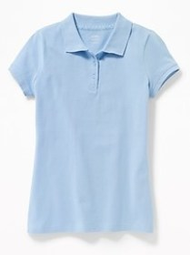 Stain-Resistant Uniform Polo for Girls