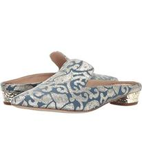 Sam Edelman Blue Multi Baroque Metallic Jacquard