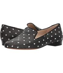 Sam Edelman Black/White Polka Dot Raffia