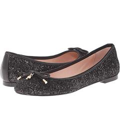 Kate Spade New York Black Glitter/Black Nappa