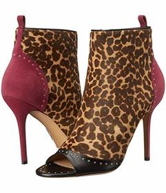 Salvatore Ferragamo Mixed Media Mid-Heel Bootie
