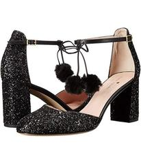 Kate Spade New York Black Glitter/Nappa