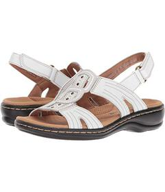 Clarks White Leather
