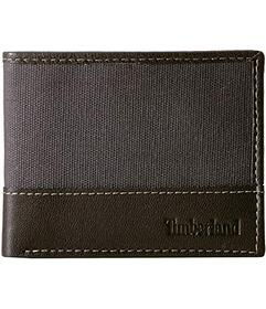Timberland Canvas & Leather Billfold Set