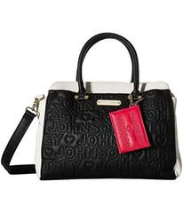 Betsey Johnson Triple Entry Satchel