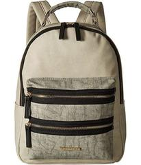 Rampage Mixed Media Midi Backpack with Exposed Zip