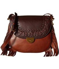 Fossil Emi Fringe Large Saddle Bag