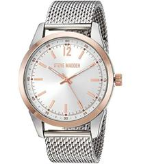 Steve Madden Dial Mesh Band Watch