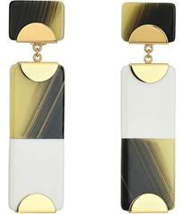 Tory Burch Resin Color Block Drop Earrings