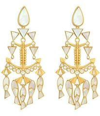 Tory Burch Fish Statement Earrings