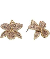 Nina Pave Small Orchid Earrings