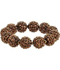 Kenneth Jay Lane Bronze Pave Ball Stretch Bracelet