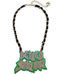 Betsey Johnson Name Plate Necklace